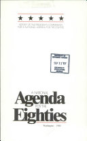 A National Agenda for the Eighties