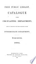 Catalogue of the Circulating Department