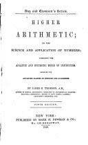 Higher Arithmetic  Or  The Science and Application of Numbers