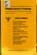 Philippine Journal of Psychology
