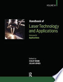 Handbook of Laser Technology and Applications  Applications