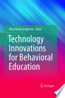 Technology Innovations For Behavioral Education Book PDF
