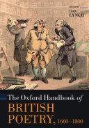 The Oxford Handbook of British Poetry, 1660-1800 [Pdf/ePub] eBook
