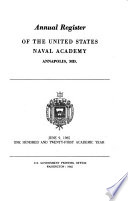 Annual Register of the United States Naval Academy Book