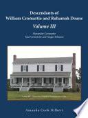 """Descendants of William Cromartie and Ruhamah Doane: Alexander Cromartie, Jean Cromartie and Angus Johnson"" by Amanda Cook Gilbert"
