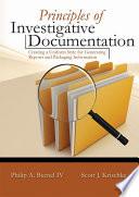 Principles of Investigative Documentation Book