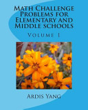 Math Challenge Problems for Elementary and Middle Schools Book PDF