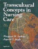 Transcultural Concepts in Nursing Care Book
