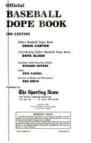 The Sporting News Official Baseball Dope Book, 1985
