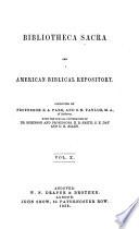 Bibliotheca Sacra and Theological Review