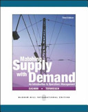 Matching Supply With Demand PDF