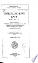 Internal Revenue Laws in Force April 1  1927