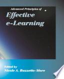 Advanced principles of effective e-learning