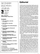 Secondary Education Journal