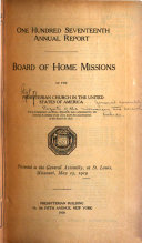 Reports of the Missionary and Benevolent Boards and Committees to the General Assembly