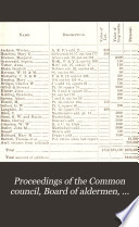 Proceedings Of The Common Council Board Of Aldermen And The Joint Convention Of Said Bodies