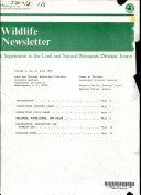 Wildlife Newsletter