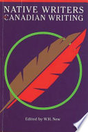 Native Writers and Canadian Writing Book