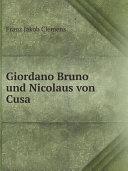 Pdf Giordano Bruno und Nicolaus von Cusa Telecharger