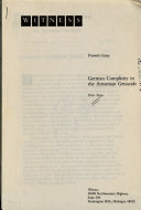 German Complicity in the Armenian Genocide Book PDF