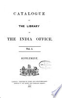 Catalogue of the Library of the India Office