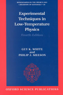 Experimental Techniques in Low Temperature Physics Book