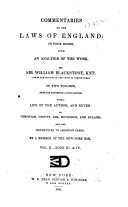 Pdf Commentaries of the Laws of England: in Four Books; with an Analysis of the Work