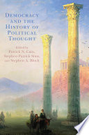 Democracy and the History of Political Thought Book