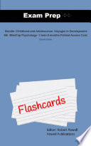 Exam Prep Flash Cards for Bundle: Childhood and Adolescence: ...