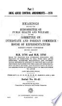 Drug Abuse Control Amendments  1970