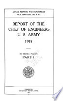 Report of the Chief of Engineers, U.S. Army