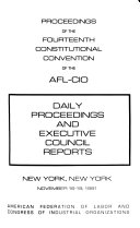 Proceedings Of The Constitutional Convention Of The Afl Cio