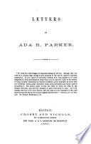 Letters of Ada R. Parker