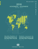 Pdf Monthly Bulletin of Statistics, November 2018 / Bulletin mensuel de statistique, novembre 2018 Telecharger