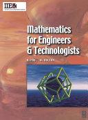 Mathematics for Engineers and Technologists [Pdf/ePub] eBook