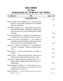 Records of the Zoological Survey of India