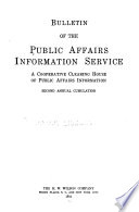 Bulletin of the Public Affairs Information Service  : Annual Cumulation , Volume 2