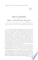 Speech delivered     at the fourth annual meeting of the    Vigilance Association for the Defence of Personal Rights     held at Bristol  October 15th  1874 Book