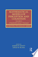 Mathematical Models of Perception and Cognition Volume II