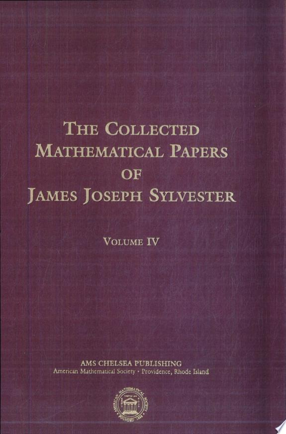 The Collected Mathematical Papers o