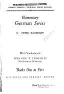 Elementary German Series  Books One to Five