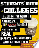 Students  Guide to Colleges Book