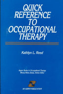 Quick Reference to Occupational Therapy Book PDF