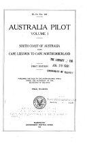 Australia Pilot  South coast of Australia from Cape Leeuwin to Cape Northumberland