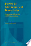 Forms Of Mathematical Knowledge
