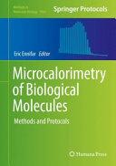 Microcalorimetry of Biological Molecules