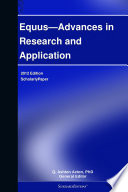 Equus—Advances in Research and Application: 2012 Edition