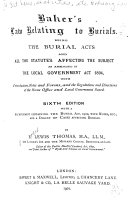 Baker s Law Relating to Burials