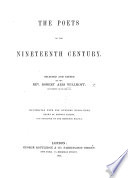 The Poets Of The Nineteenth Century Selected And Edited By R A W Illustrated With One Hundred Engravings