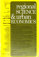 Regional Science and Urban Economics Book